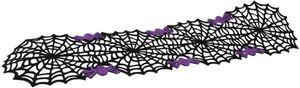 Tischläufer - Spinnenweben - aus Filz - 116 x 30 cm