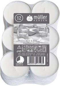 Maxi-Teelichter - Ø = 5,5 cm - 12 Stück