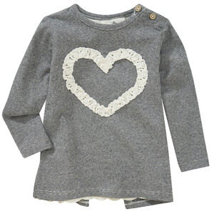 Baby Langarmshirt mit Herz-Applikation