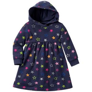 Baby Sweatkleid mit bunten Sternen allover