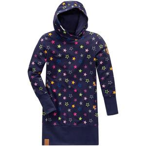 Mädchen Sweatkleid mit bunten Sternen allover