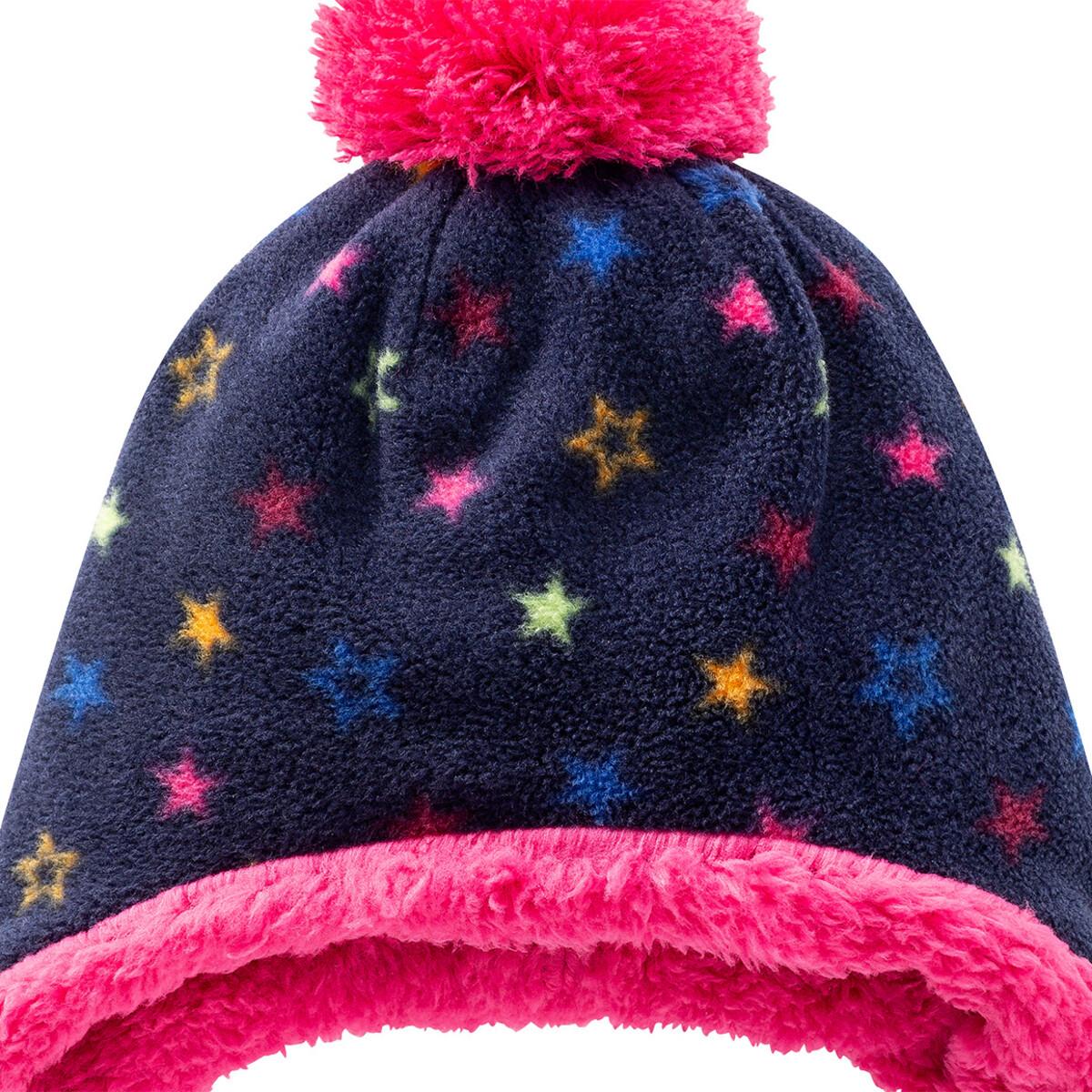 Bild 2 von Mädchen Fleecemütze mit Sternen