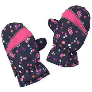 Baby Handschuhe mit floralem Allover-Motiv
