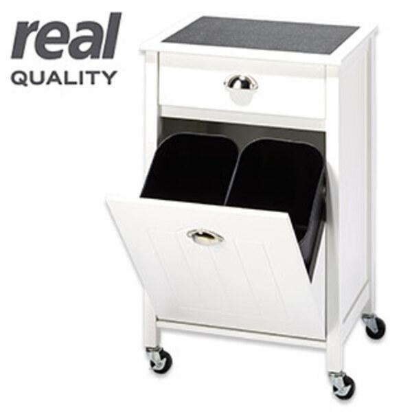 Küchenwagen mit integr. Schublade und 2 herausnehmbaren Mülleimern, je ca. 12 Liter Inhalt Maße: ca. H 77,2 x B 480 x T 37,0 cm (Maße inkl.