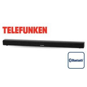 2.0-Bluetooth®-TV-Soundbar SB102 • 2 x 15 Watt RMS • USB-/HDMI-/Cinch-/3,5-mm-Klinken-Anschluss, optischer Eingang • inkl. Fernbedienung und Cinch-Kabel