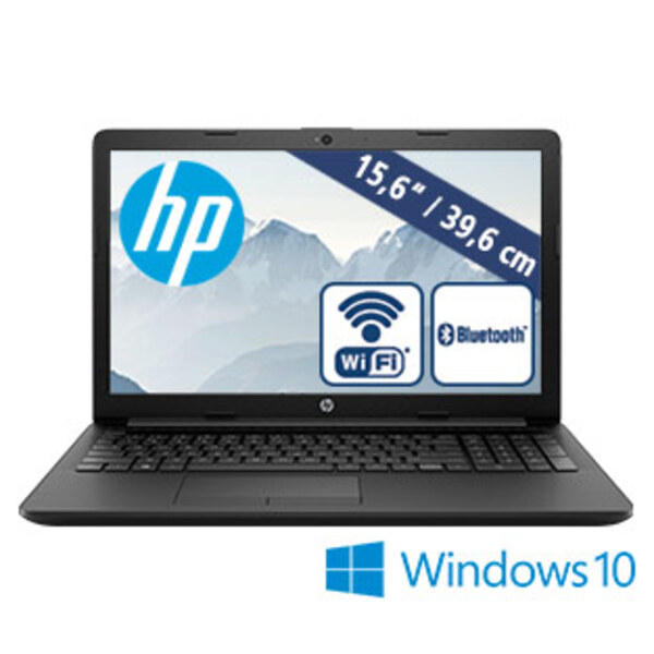 Notebook 15-db0532ng · entspiegeltes HD-Display · AMD A4-9125 Dual-Core-Prozessor (bis zu 2,6 GHz) · Integrierte AMD-Radeon™ R3-Grafik · USB 3.1, USB 2.0, HDMI · DVD-Writer, Webcam