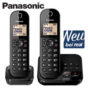 Schnurlos-DECT-Telefon KX-TGC422 · Telefonbuch für bis zu 120 Einträge · digitaler Anrufbeantworter: Aufzeichnung bis zu 18 Min. · Eco Modus Plus · Sprechzeit bis zu 18 Stunden, Stand-by bis zu