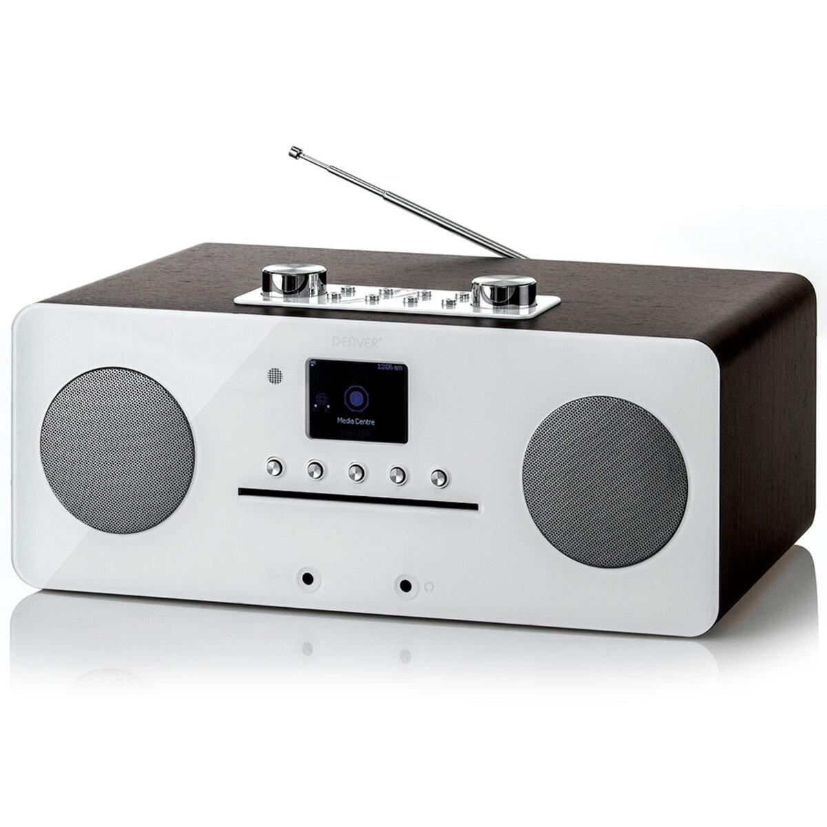 Bild 1 von Denver DAB+ Internet-Musik Center, Bluetooth & NFC, Weiße Front, MIR-260