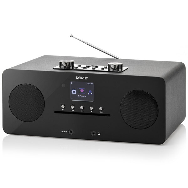 Denver DAB+ Internet-Musik Center, Bluetooth & NFC, Schwarze Front, MIR-260