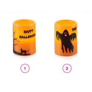 LED Echtwachskerze Halloween in versch. Varianten