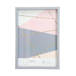 Bilderrahmen MDF grau FSC® 21 x 30 cm