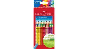 FABER-CASTELL Farbstift Grip Colour 24er-Etui