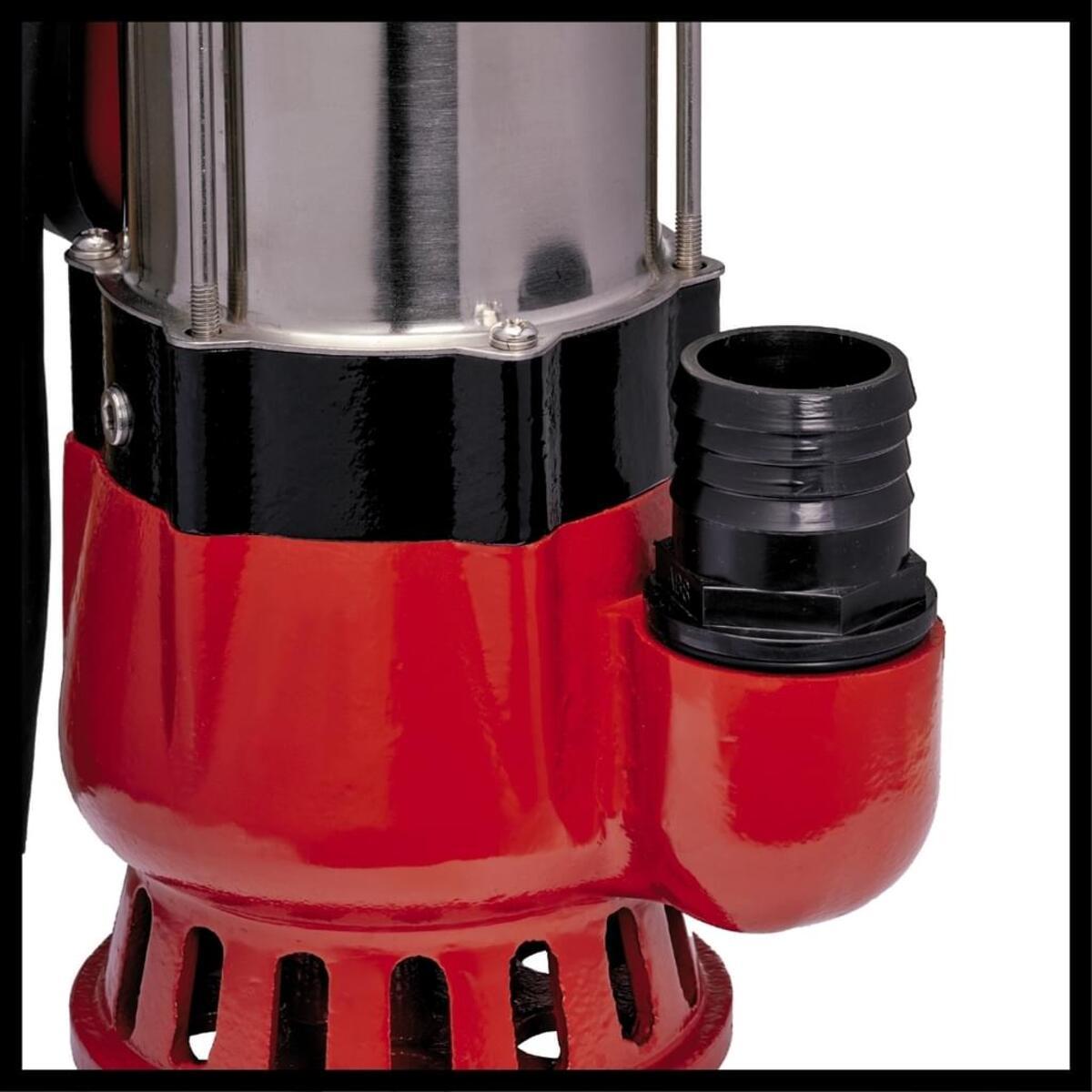 Bild 5 von Einhell Schmutzwasserpumpe GC-DP 5010 G, Leistung 500 Watt, Fördermenge max. 12000 l/h, Förderhöhe max. 8 m, Eintauchtiefe max. 5 m, Fremdkörpergröße max. 10 mm, stufenlos verstellbarer Schwimm