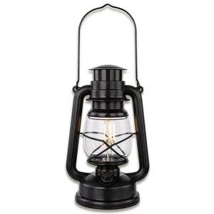 LED-Sturmlaterne - schwarz - dimmbar - 25 cm