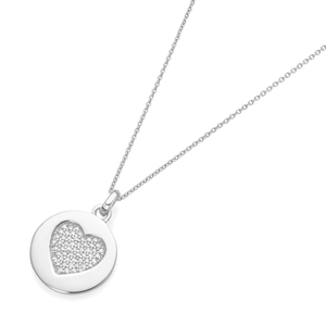 Smart Jewel Kette rundes Plättchen mit Herz an Kette