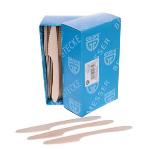 GRÄWE Holzmesser Einwegbesteck natur 100 Stück