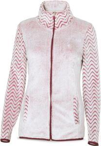 Damen Kontrast-Fleecejacke - rosé melange, Gr. XL
