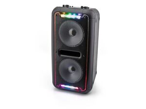 Caliber HPA502BTL tragbarer Bluetooth Lautsprecher mit mehrfarbigen LED-Leuchten, eingebauter Batterie und Karaoke Sing-Along-Option
