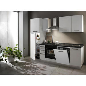 XXXL KÜCHENBLOCK E-Geräte, Geschirrspüler, Kühlgefrierkombination, Soft-Close-System, Spüle, Weiß