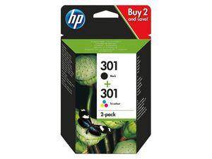 hp 2 Druckerpatronen HP 301 BK+CMY