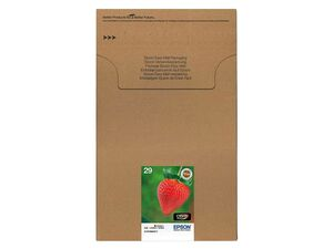 EPSON Druckerpatrone Epson T2986 4er Pack Multipack Erdbeere