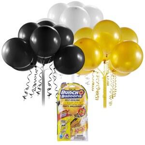 Bunch O Balloons Party - Nachfüll-Pack Luftballons, schwarz/gold/weiß