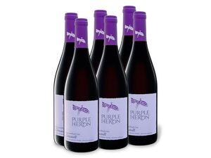 6 x 0,75-l-Flasche Weinpaket Purple Heron Südafrika Cinsault trocken, Rotwein