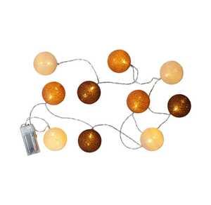 Lichterkette mit Bällen, ca. 165cm