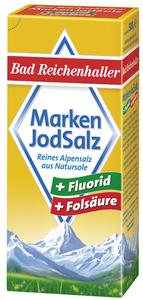Bad Reichenhaller Markenjodsalz mit Fluorid und Folsäure 500 g