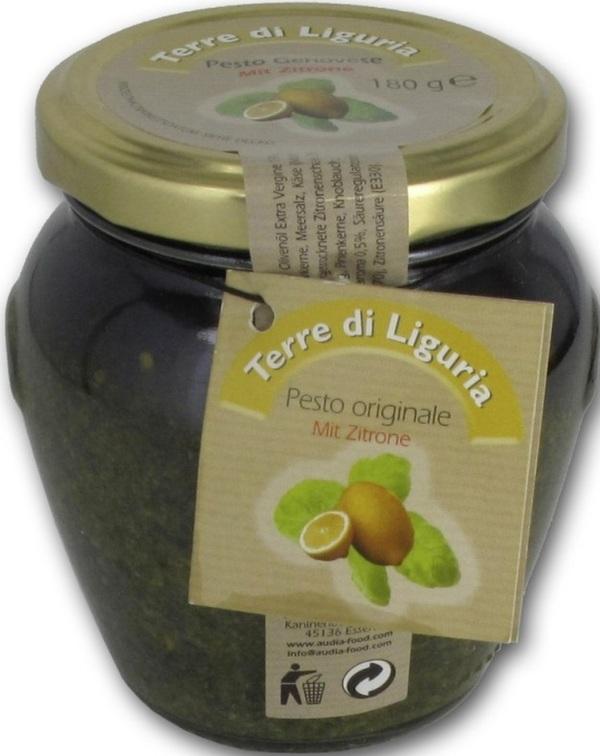 Audia Food Terre di Liguria Pesto alla Genovese mit Zitrone 180 g