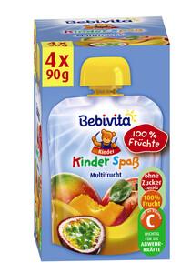 Bebivita Kinder Spaß Multifrucht ab 1 Jahr 4x 90 g
