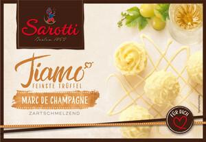 Sarotti Tiamo Feinste Trüffel - Marc de Champagne 125 g