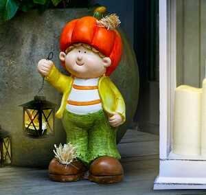 Figur mit Teelicht-Laterne, ca. 38cm
