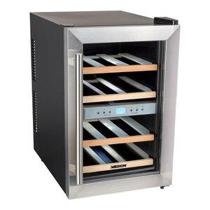 MEDION Weintemperierschrank MD 37450, 2 Temperaturzonen (7°C-18°C), Nutzinhalt ca. 34 L (ca. 12 Flaschen), LED-Innenbeleuchtung