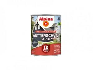 Alpina Wetterschutzfarbe ,  2,5 l anthrazitgrau