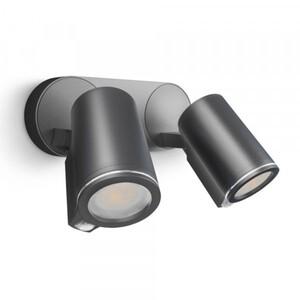 Steinel LED Strahler SPOT DUO Sensor ,  2 x 520 lm, anthrazit