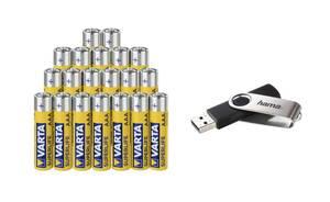 Superlife 20er Batterie + 16GB USB Stick Varta