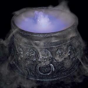 Halloween Nebler »Hexenkessel« Nebelmaschine mit LED-Beleuchtung