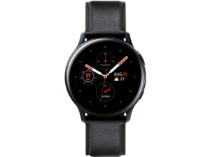 SAMSUNG Galaxy Watch Active2 Stainless Steel 40mm (LTE) BK, Smartwatch, Echtleder, S/M, Black