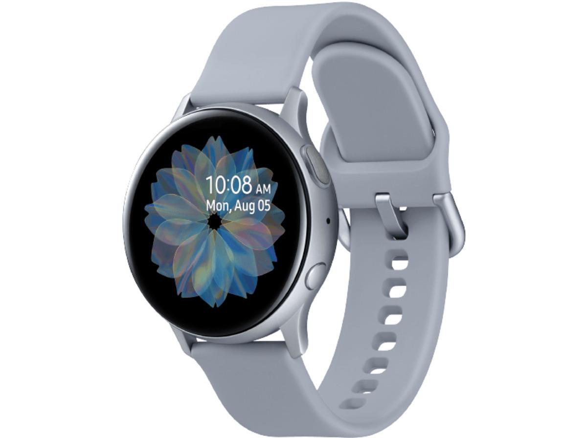 Bild 3 von SAMSUNG Galaxy Watch Active2 Aluminium 40mm CS, Smartwatch, Fluorkautschuk, S/M, Cloud Silver