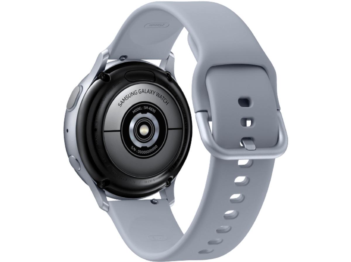 Bild 5 von SAMSUNG Galaxy Watch Active2 Aluminium 40mm CS, Smartwatch, Fluorkautschuk, S/M, Cloud Silver