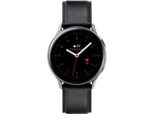 SAMSUNG Galaxy Watch Active2 Stainless Steel 40mm SI, Smartwatch, Echtleder, S/M, Silver