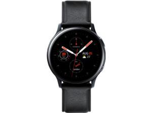 SAMSUNG Galaxy Watch Active2 Stainless Steel 40mm BK, Smartwatch, Echtleder, S/M, Black