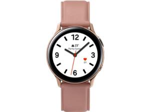 SAMSUNG Galaxy Watch Active2 Stainless Steel 40mm GO, Smartwatch, Echtleder, S/M, Gold