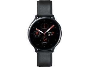 SAMSUNG Galaxy Watch Active2 Stainless Steel 44mm (LTE) BK, Smartwatch, Echtleder, M/L, Black