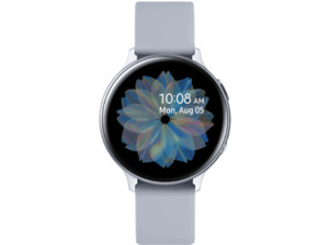 SAMSUNG Galaxy Watch Active2 Aluminium 44mm CS, Smartwatch, Fluorkautschuk, M/L, Cloud Silver