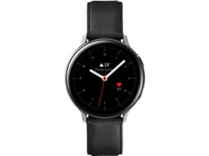 SAMSUNG Galaxy Watch Active2 Stainless Steel 44mm SI, Smartwatch, Echtleder, M/L, Silver