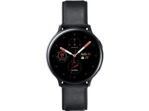 SAMSUNG Galaxy Watch Active2 Stainless Steel 44mm BK, Smartwatch, Echtleder, M/L, Black