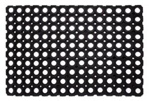 Ringgummimatte ,  schwarz, 80 x 120 cm