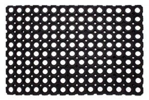 Ringgummimatte ,  schwarz, 60 x 80 cm